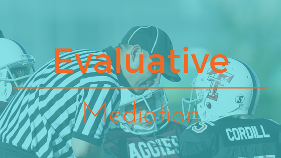 Evaluative Mediation types of mediator settlement focused